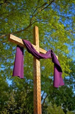 Center cross from Duluth United Methodist Church.